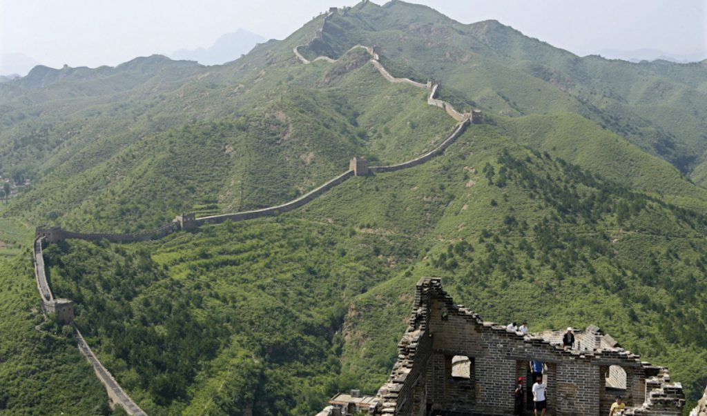 length of china wall in km