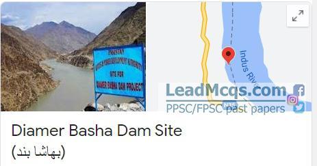 Diamer bhasha dam indus river