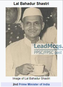 Prime Minister of India at the Time of the 1965 War