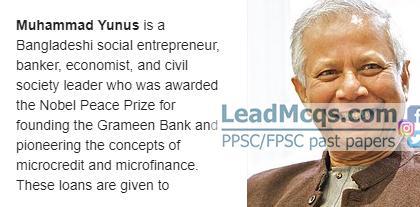 Grameen Bank Founder